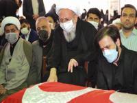 برگزاری مراسم تشییع و تدفین همسر آیت الله محمدی ری شهری